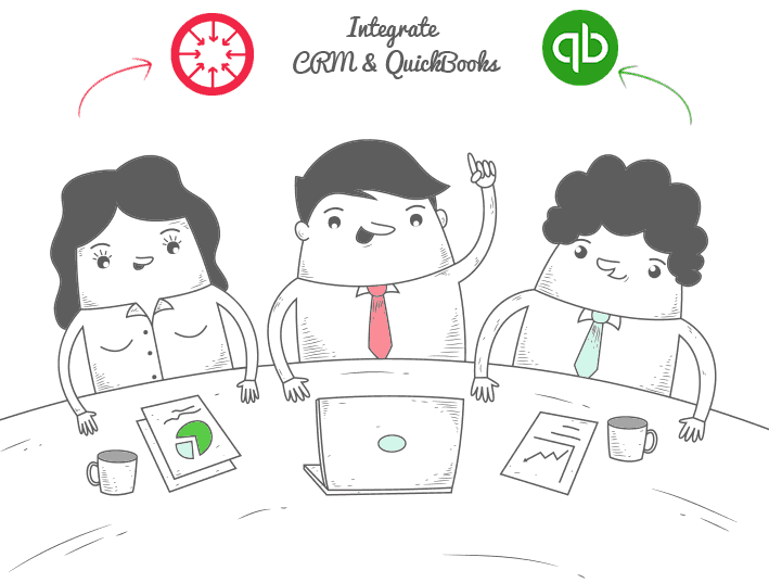 Integrate CRM and quickBooks