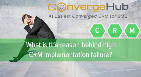 What is the reason behind high CRM implementation failure?