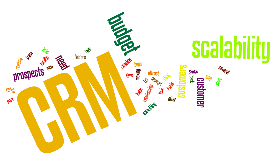 First 6 steps to choose the right CRM for your business