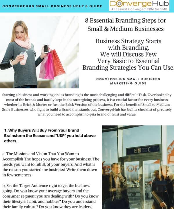 8 Essential Branding Steps for Small & Medium Business