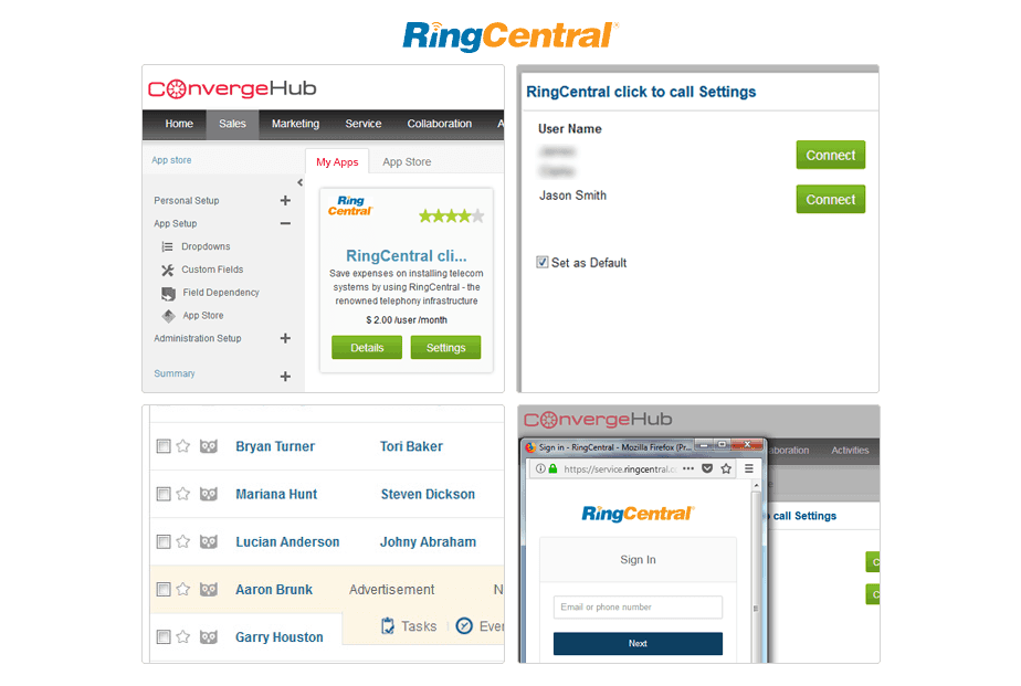 ConvergeHub RingCentral Integration, Smart Call Management