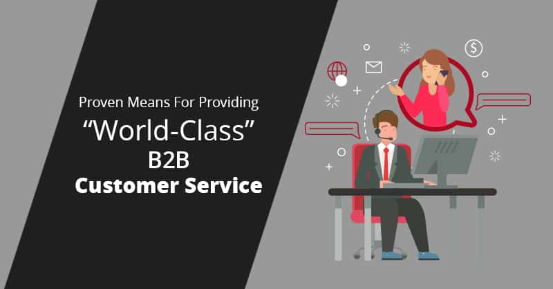 "Proven Means For Providing ""World-Class"" B2B Customer Service"